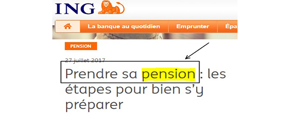 « Prendre sa pension »?